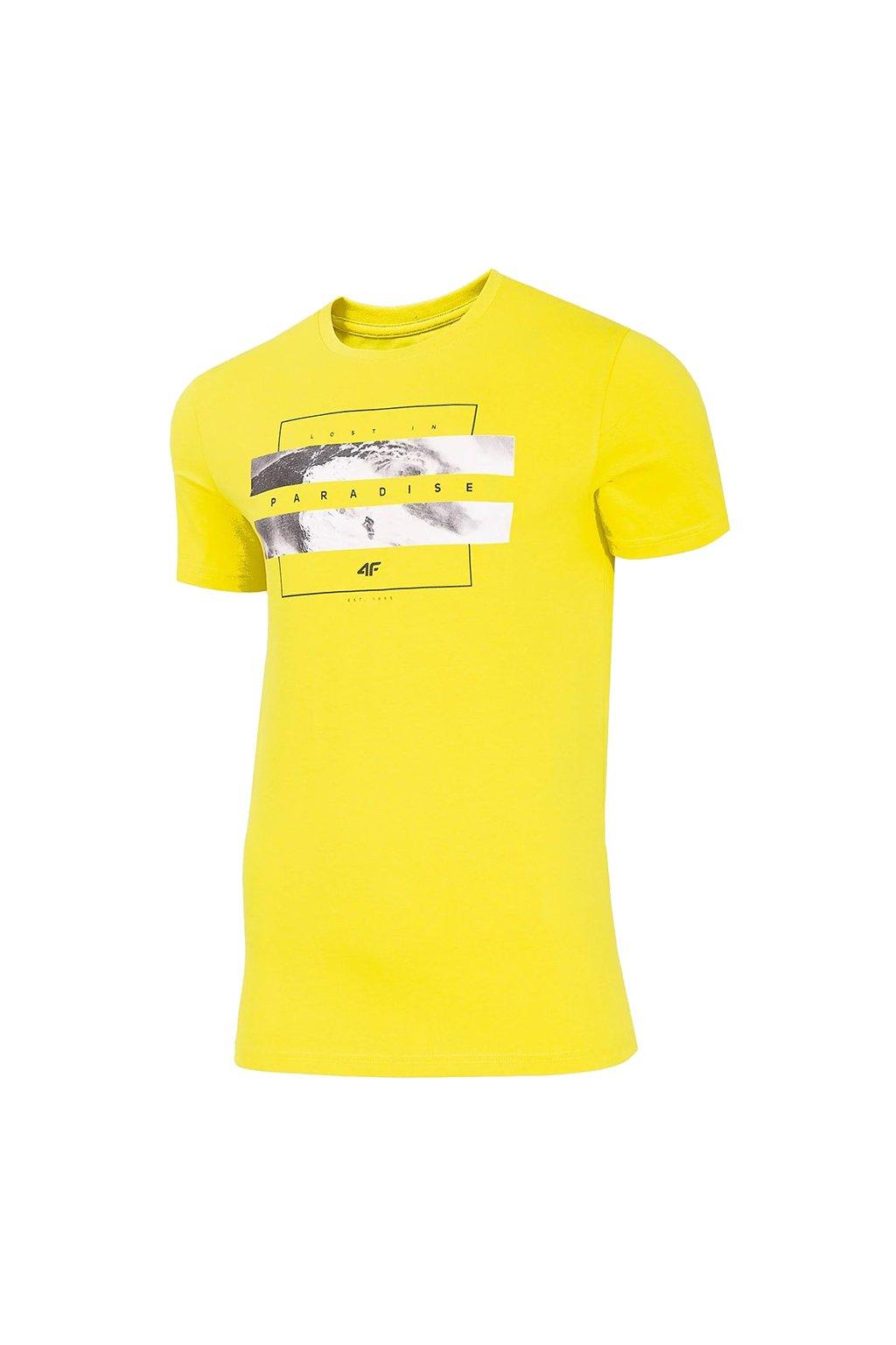 Pánske tričko 4F žlté H4L20 TSM035A 71S