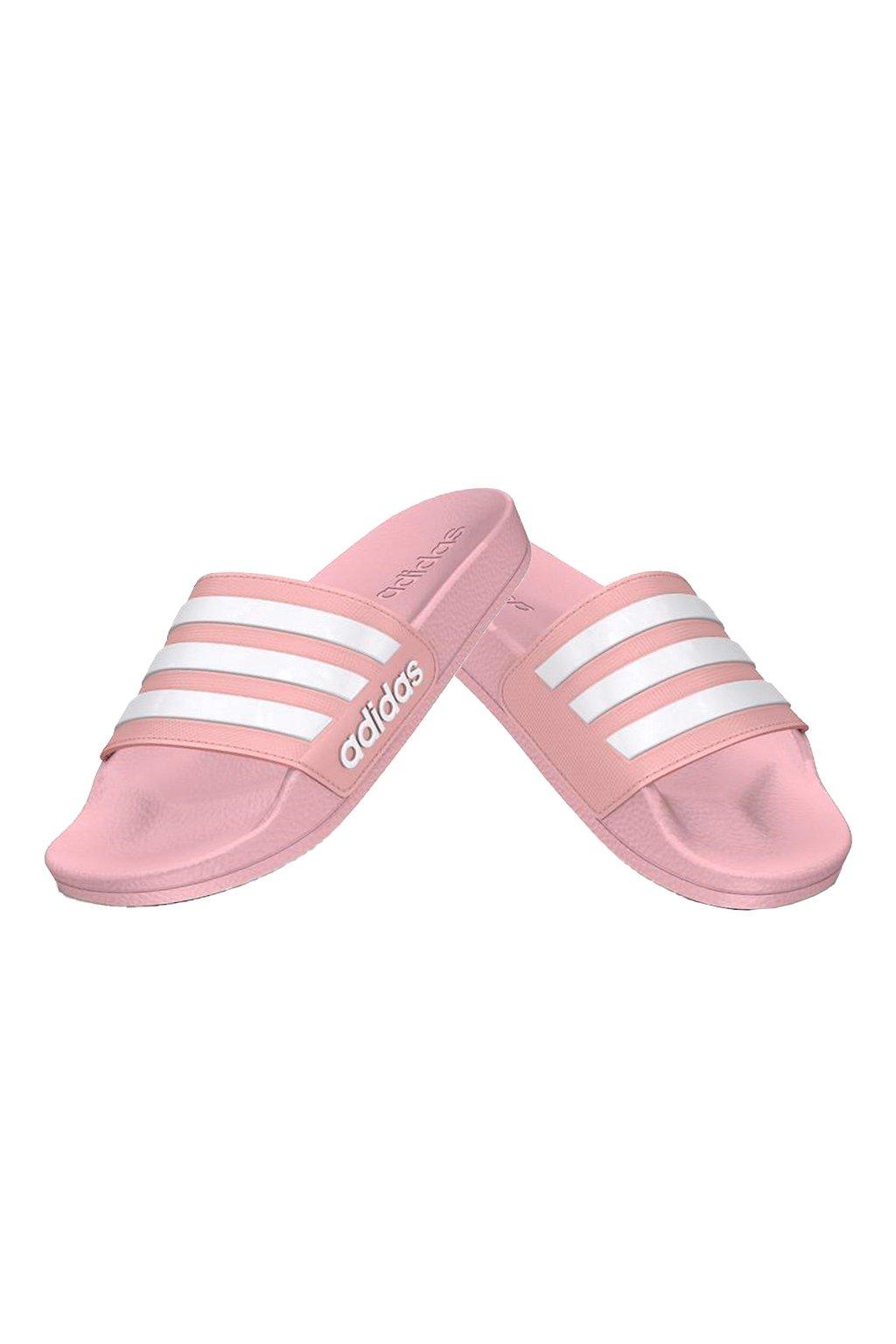 Detské šľapky Adidas Adilette Shower K ružové G27628