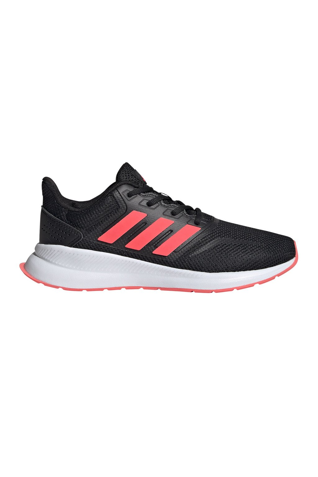 Buty dla dzieci adidas Runfalcon K czarno-koralowe FV9441