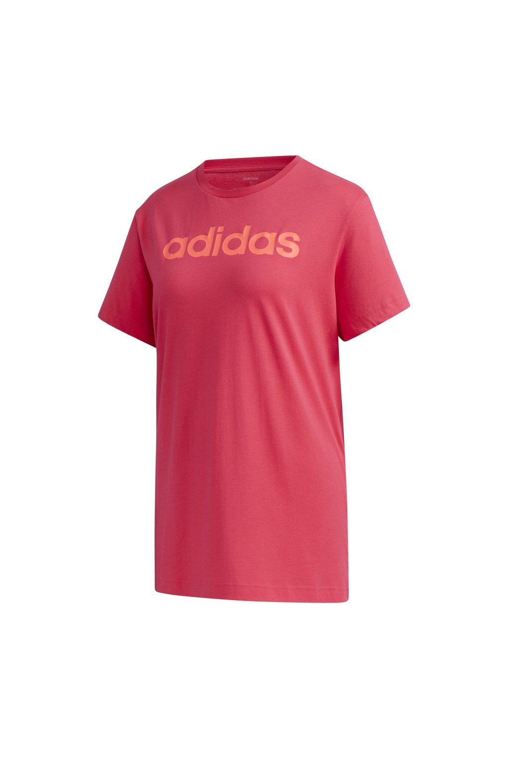 Dámske predĺžené tričko Adidas W E Linear  L T ružové GD2911