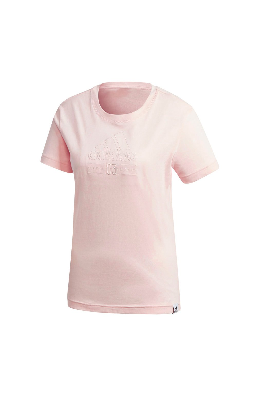 Dámske tričko adidas Brilliant Basics Tee svetlo ružové GD3821