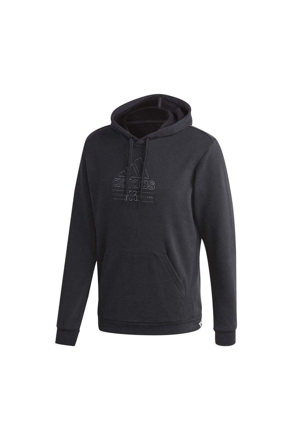 Pánska mikina Adidas Brilliant Basics Hooded čierna GD3831