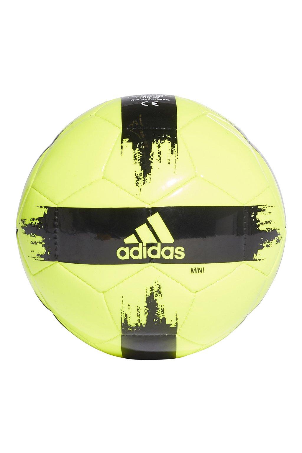 Futbalová lopta adidas Epp mini žlto-čierna GI9295