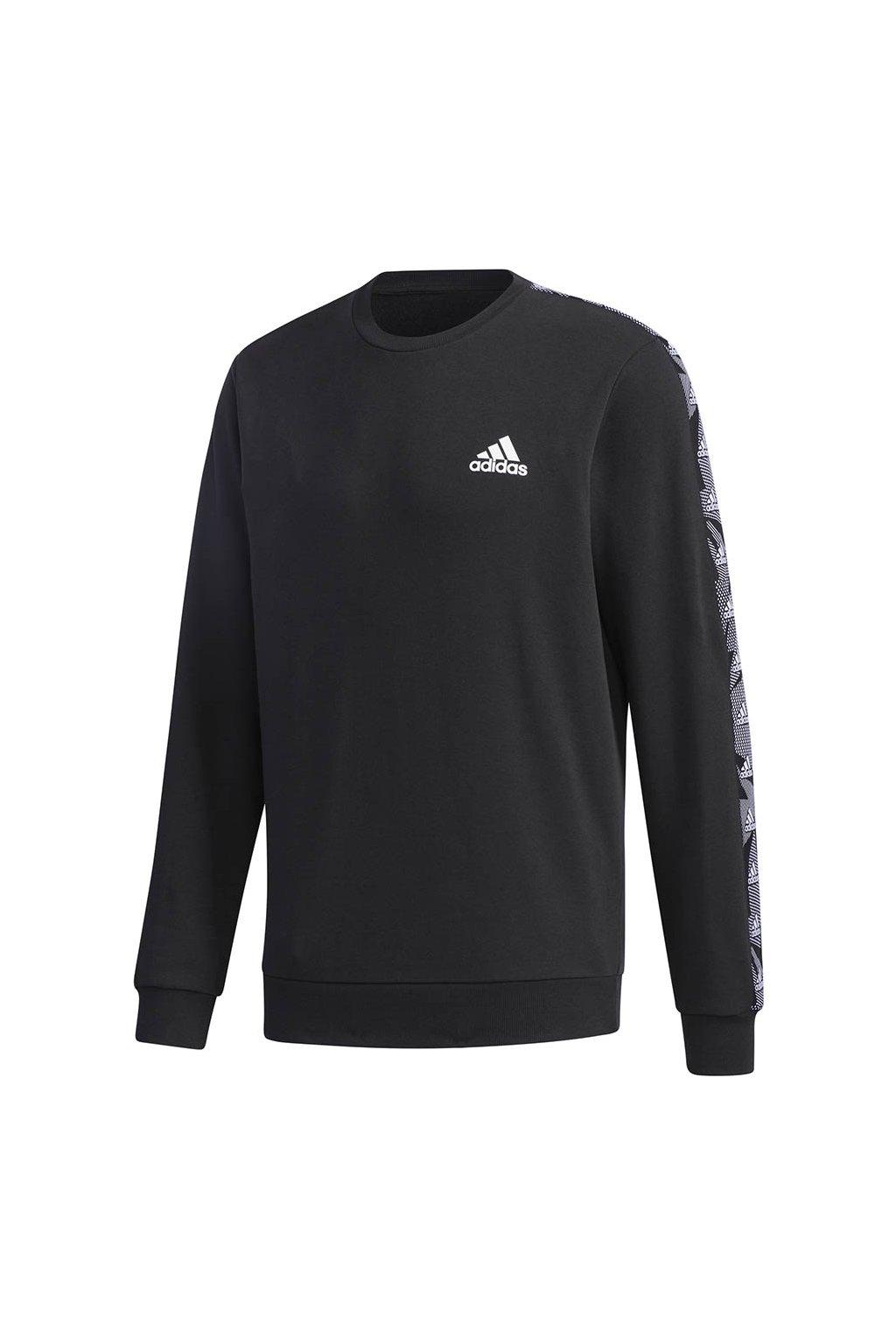 Pánska mikina adidas Essentials Tape Sweatshirt čierna GD5448