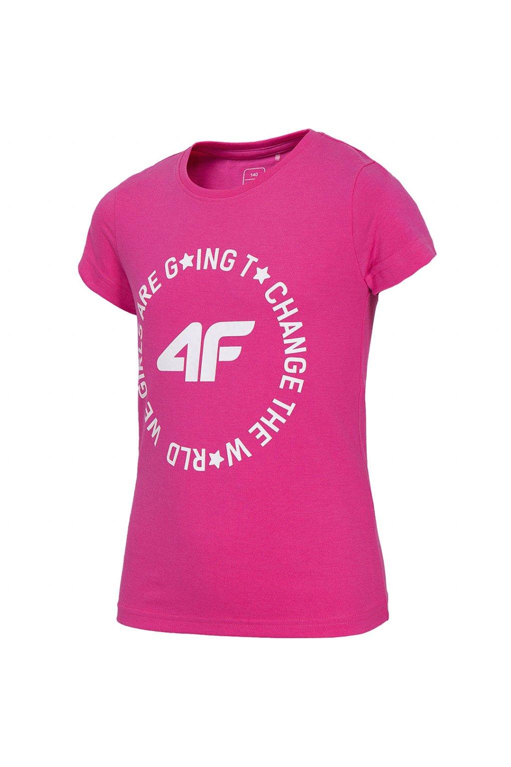Dievčenské tričko 4F fuksia HJL20 JTSD013 55S