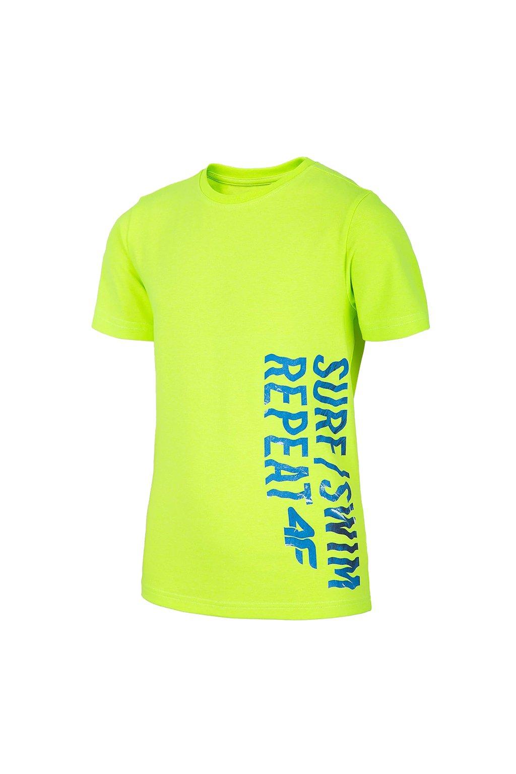 Chlapčenské tričko 4F limonka neon HJL20 JTSM016 72N
