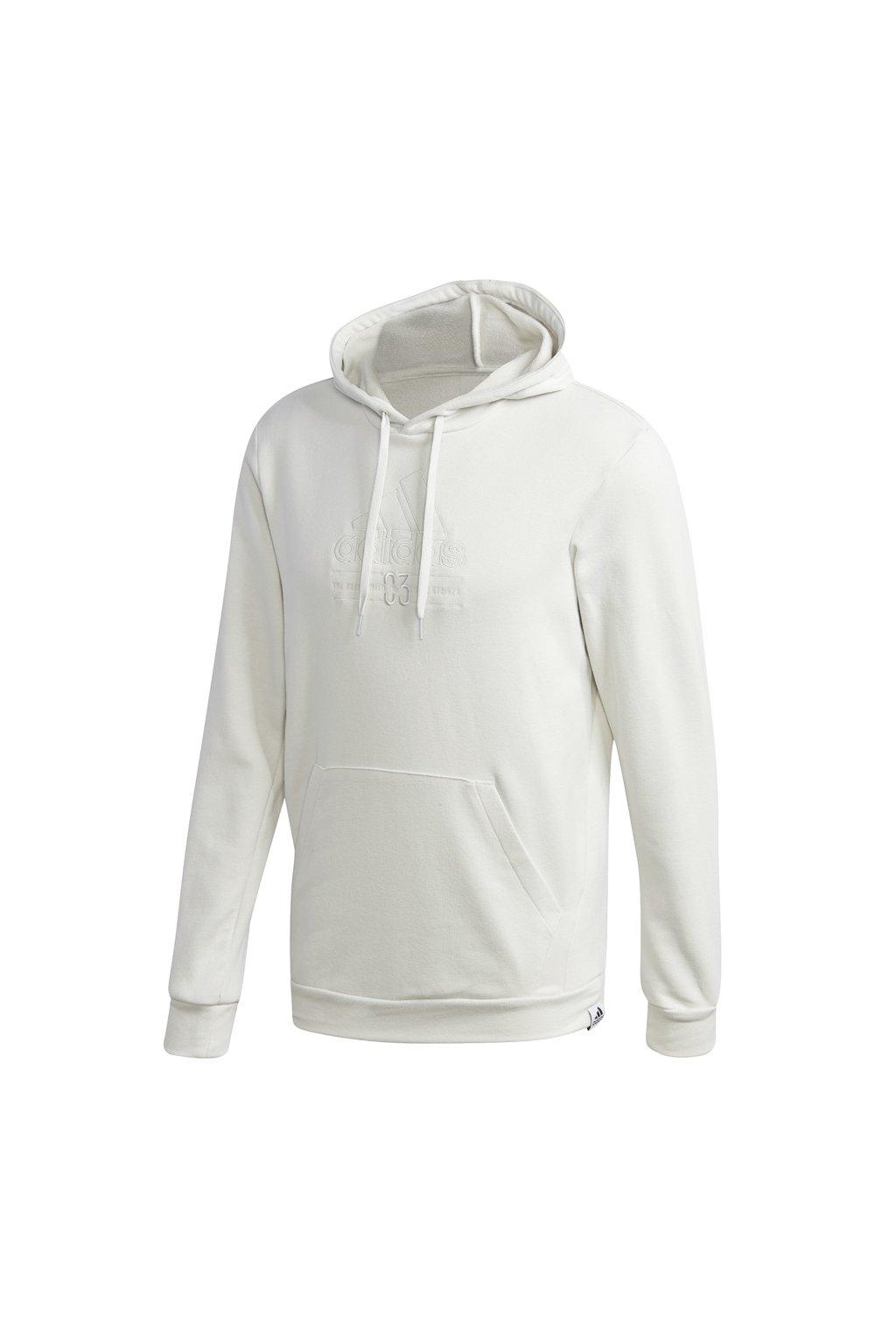 Pánska mikina adidas Brilliant Basics Hooded biela GD3833