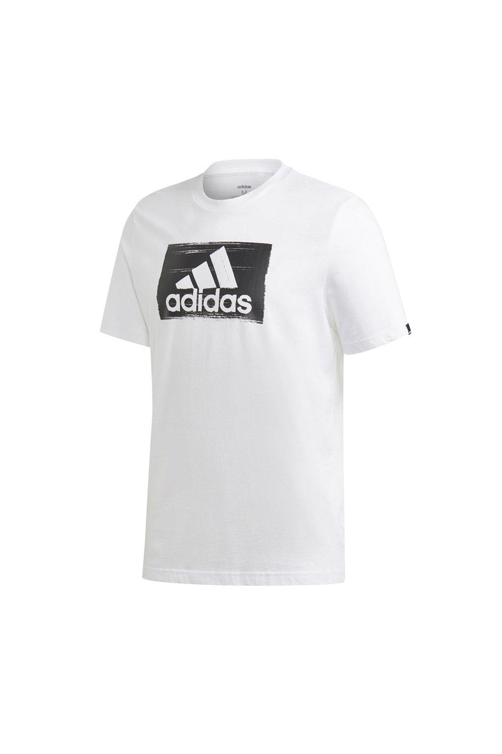 Pánske tričko Adidas M Brshstrk Tee biela GD5894