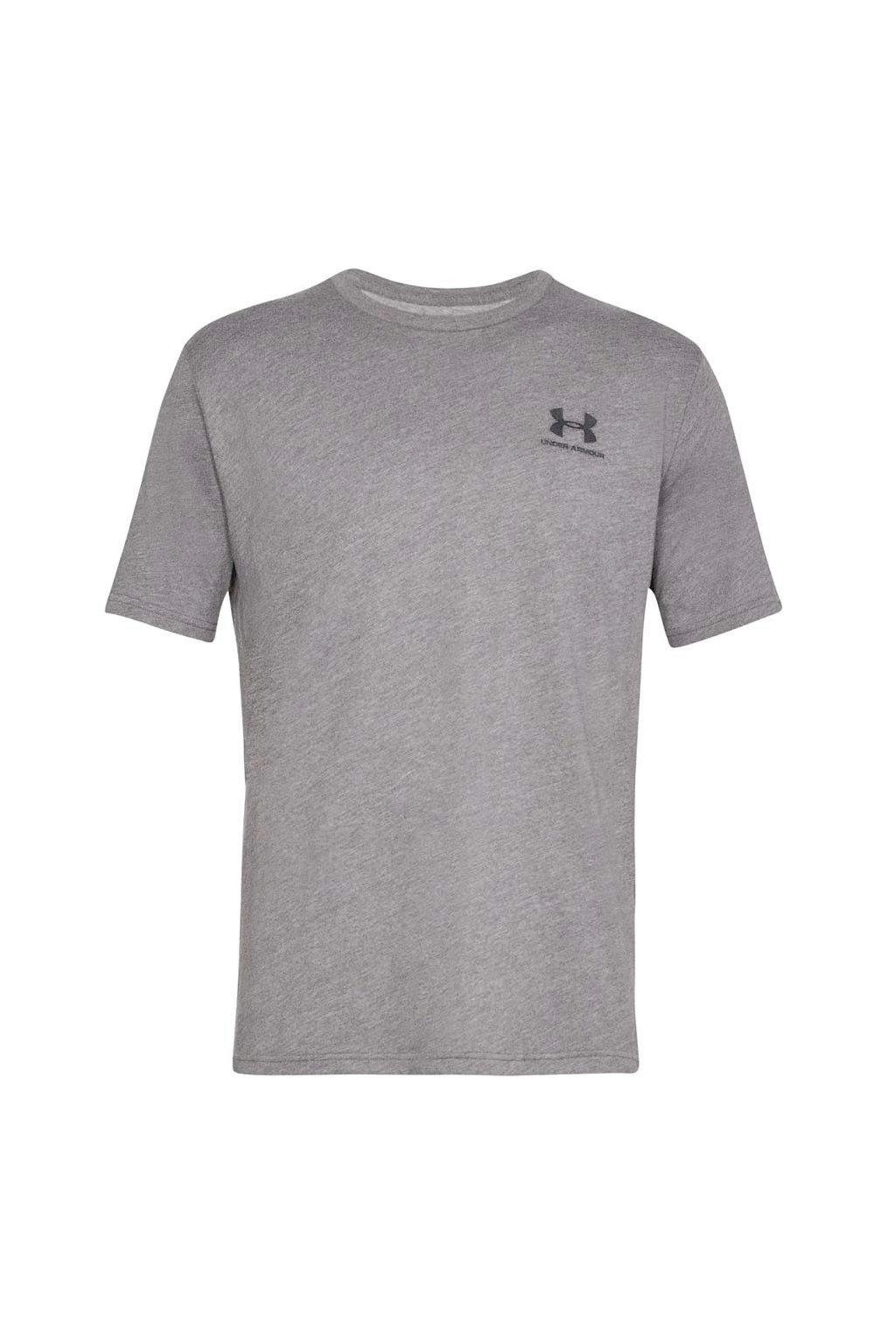 Pánske tričko Under Armour Sportstyle Left Chest SS šedá 1326799 036
