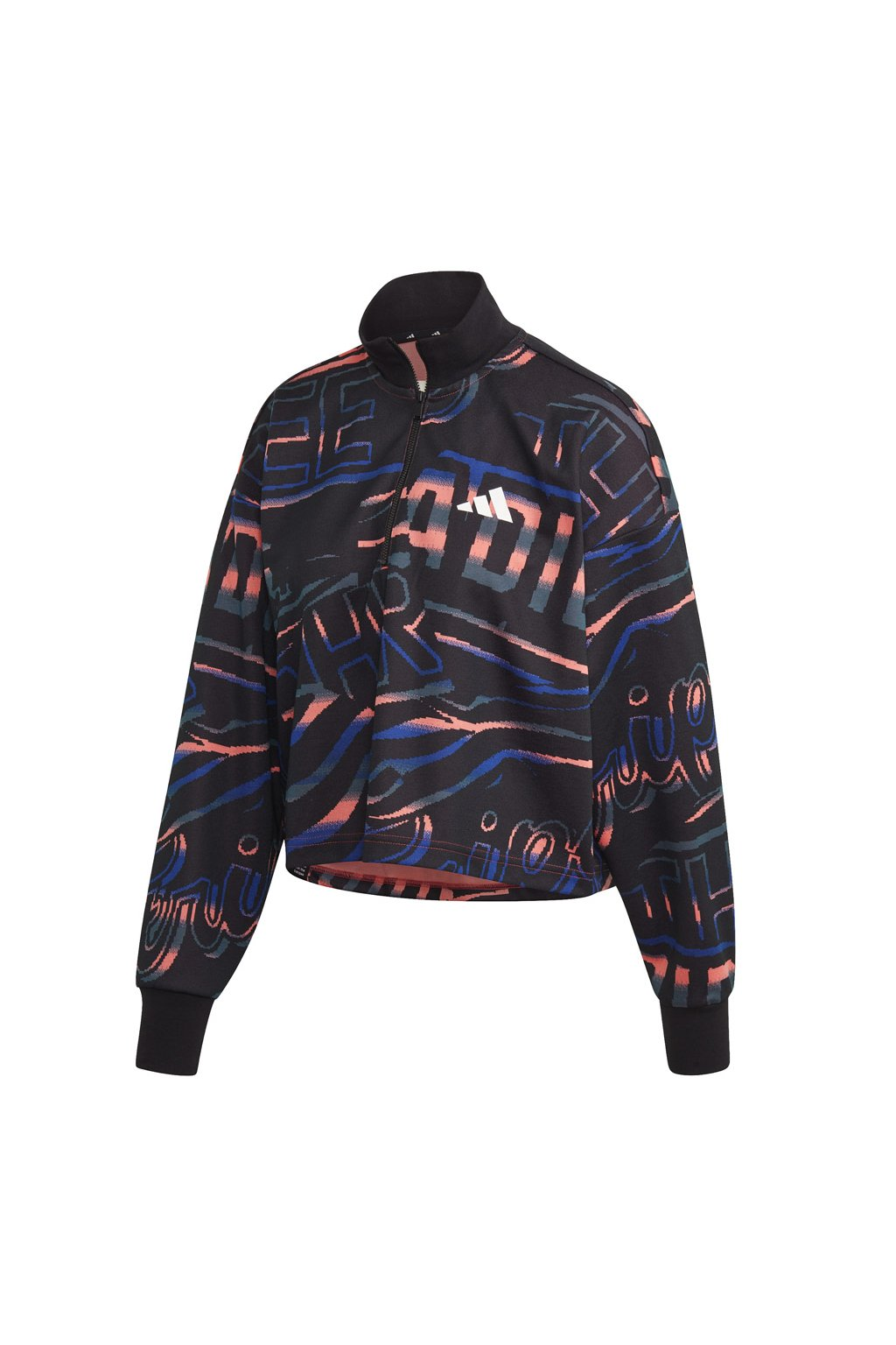 Dámska mikina Adidas W Ur Halfzip čierno-modro-oranžová FT9731