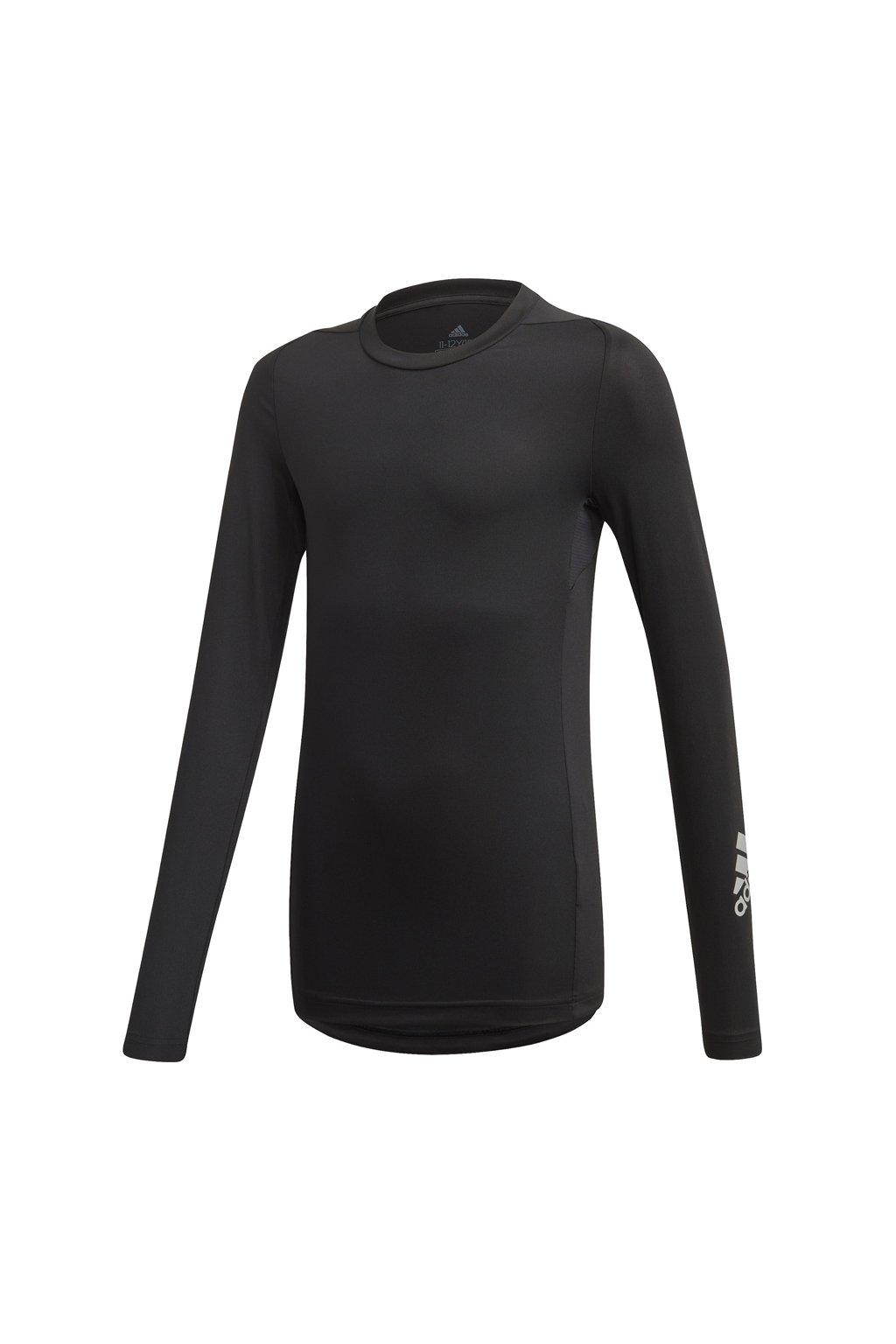 Chlapčenské kompresné tričko adidas Jb Ask Spr Ls čierne FL1339
