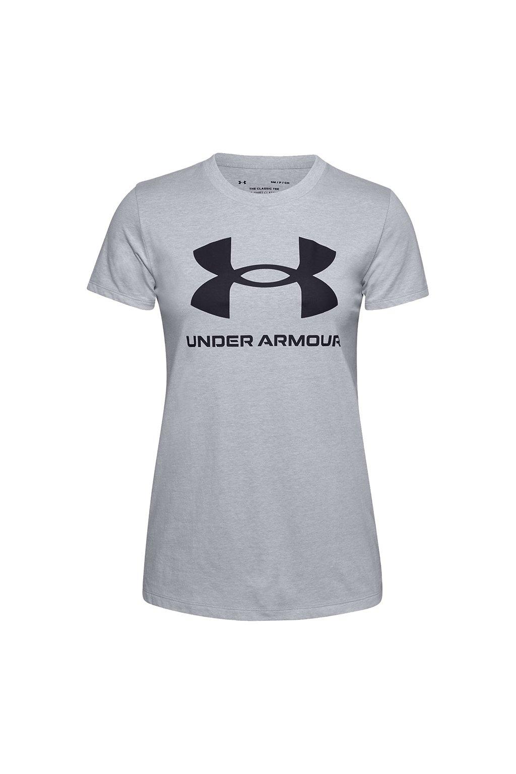 Dámske tričko Under Armour Live Sportstyle Graphic Ssc svetlo sivá 1356305 011
