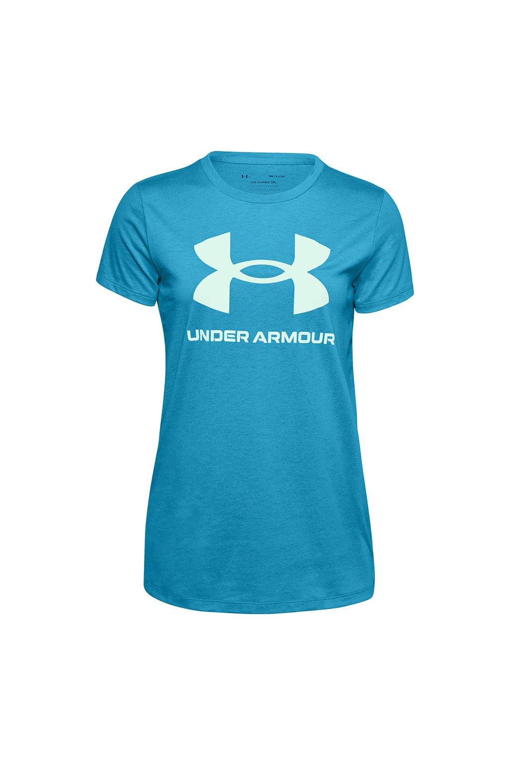 Dámske tričko Under Armour Live Sportstyle Graphic Ssc modré 1356305 431