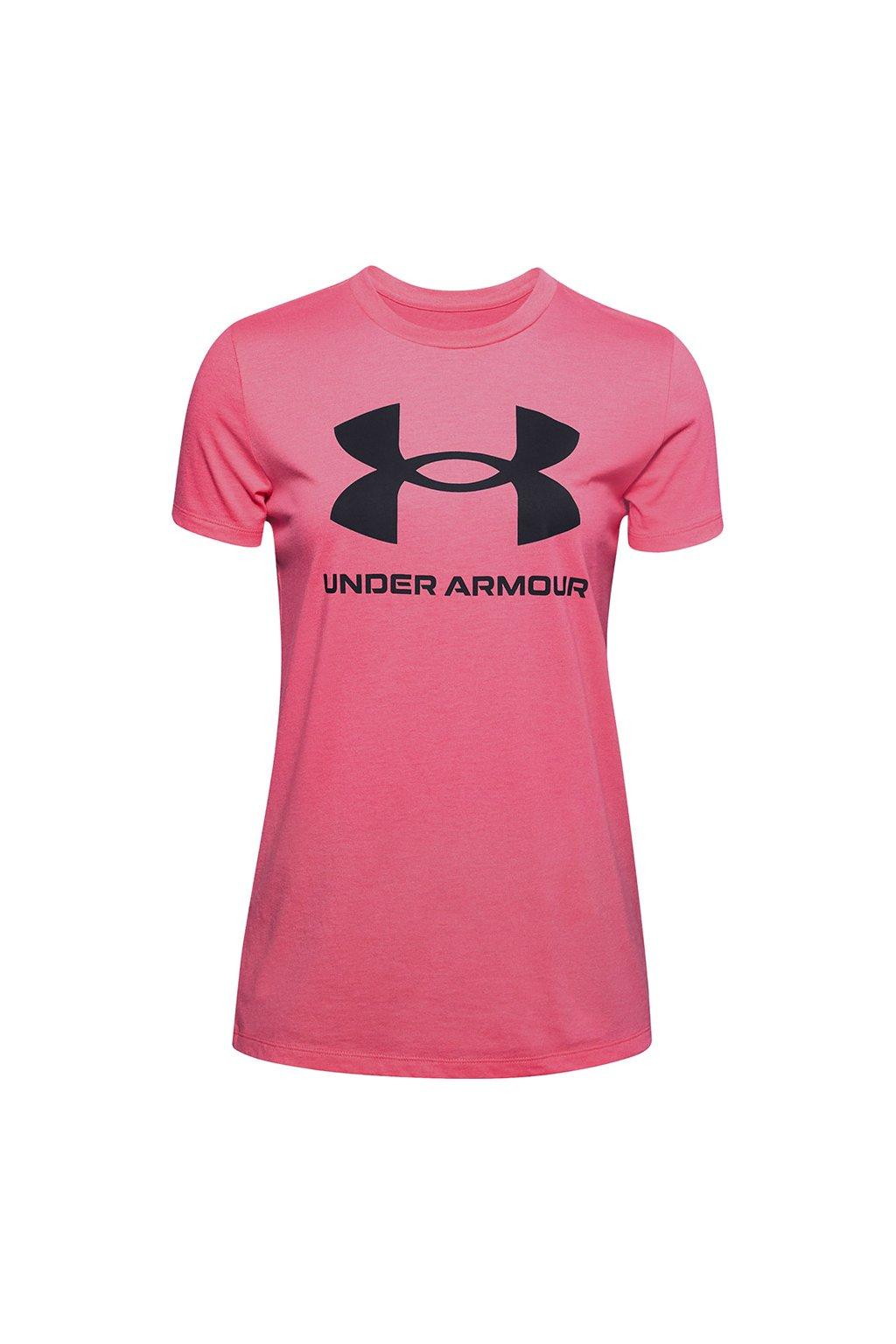 Dámske tričko Under Armour Live Sportstyle Graphic Ssc ružové 1356305 668