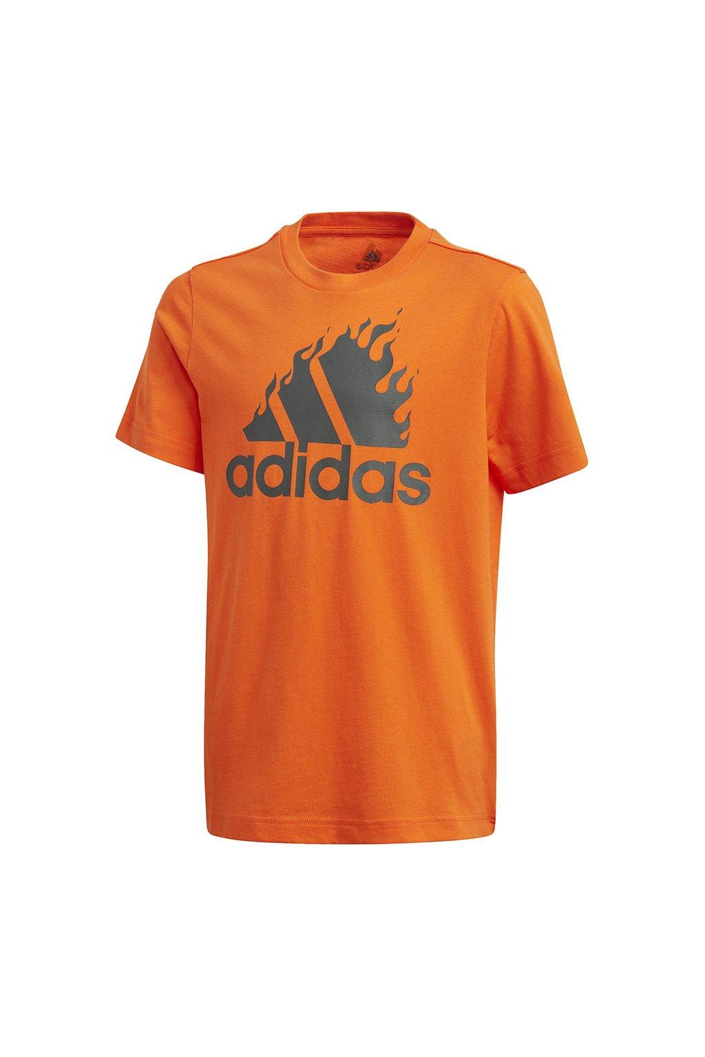 Chlapčenské tričko Adidas Jb Bos Graphic oranžové GD9259