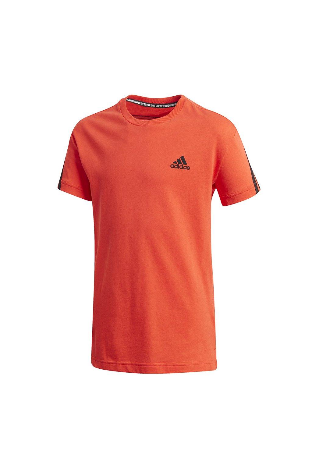 Chlapčenské tričko adidas B 3S Tee pomarančové GK3194