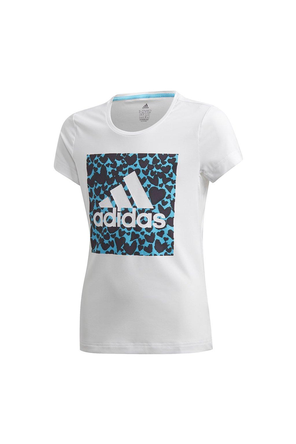 Dievčenské tričko adidas G a.r. Gfx Tee biele GE0500