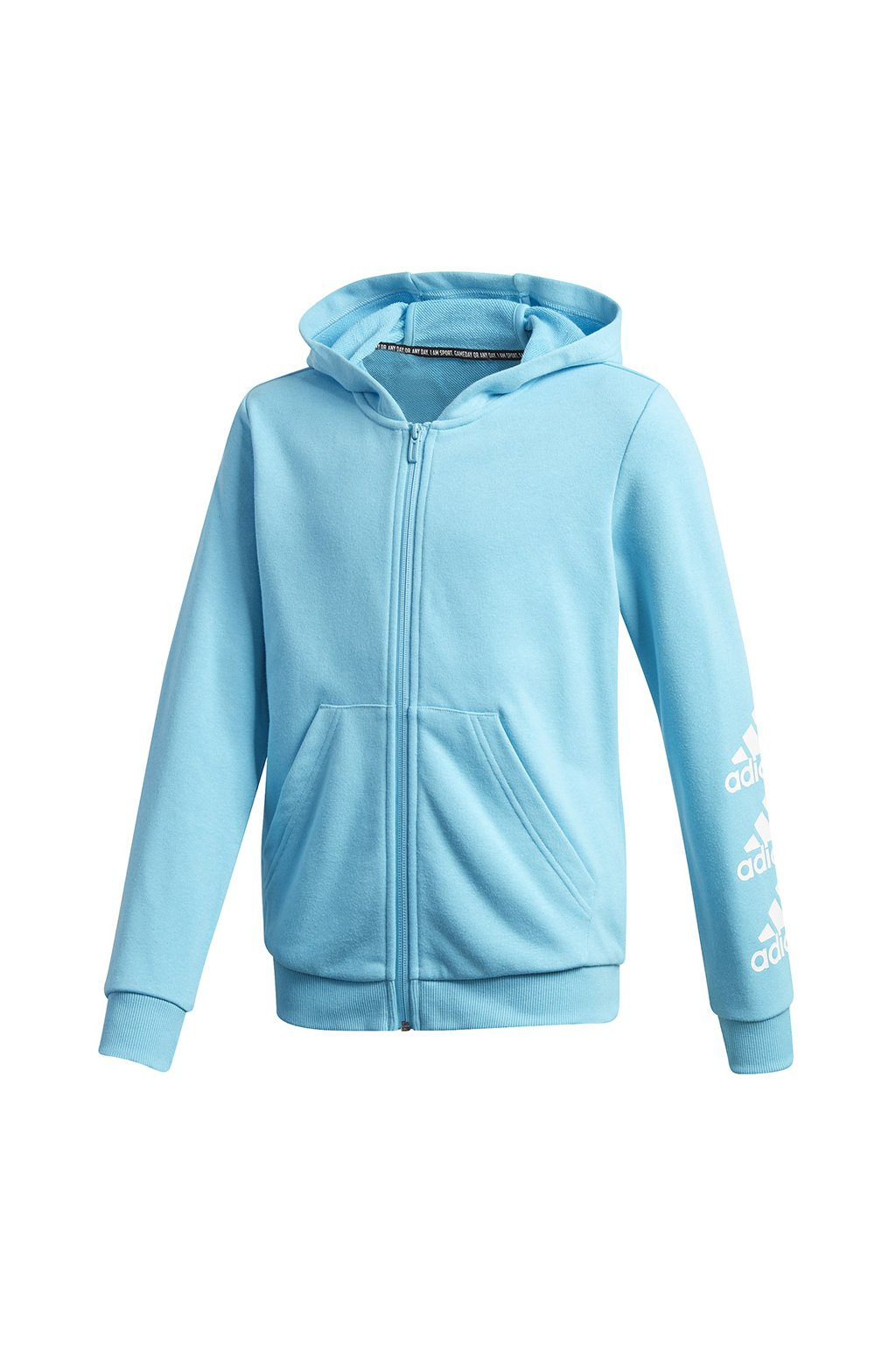 Mikina Adidas Must Haves Bos Full Zip pre deti modrá GE0943