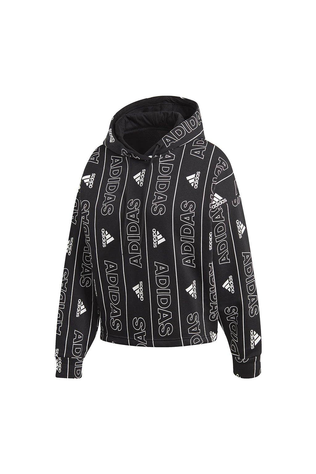 Dámska mikina adidas bos Aop Oh Hd FR5103 čierna