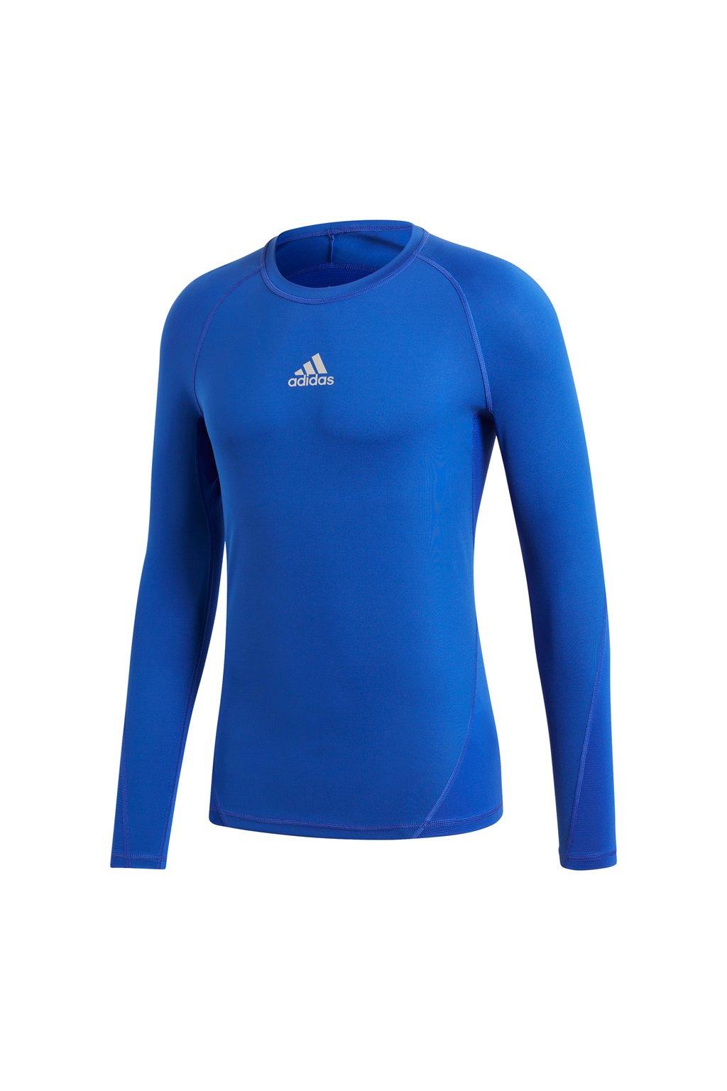 Pánske tričko adidas Alphaskin Sport LS Tee modré CW9488