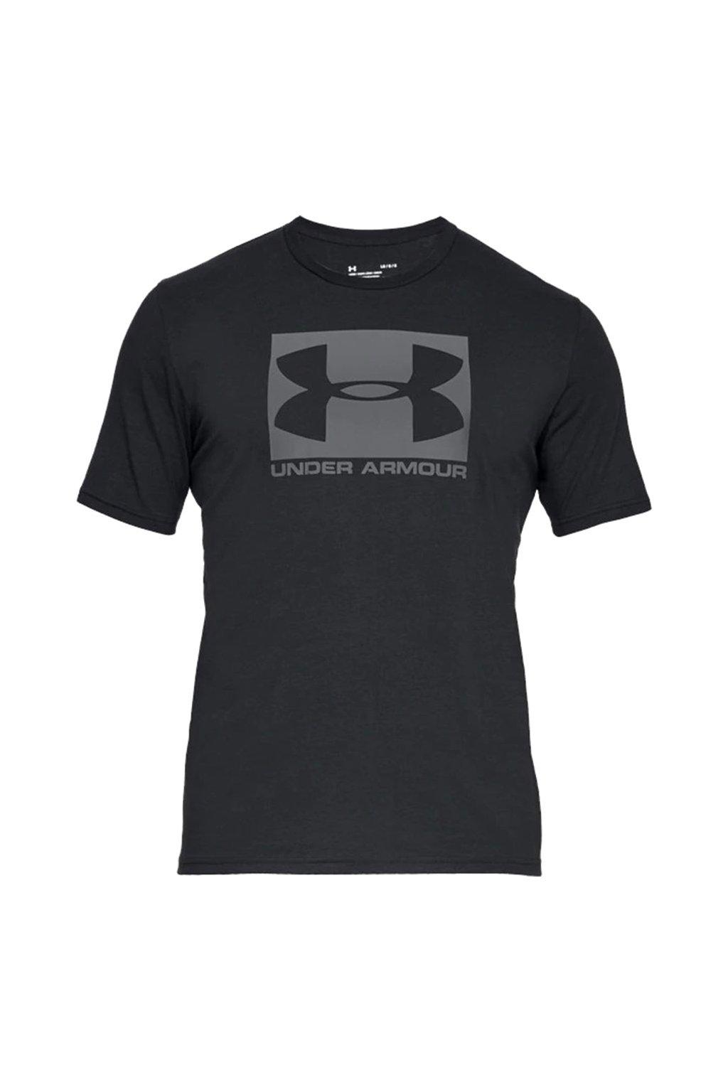 Pánske tričko Under Armour Boxed Sportstyle Ss čierne 1329581 001