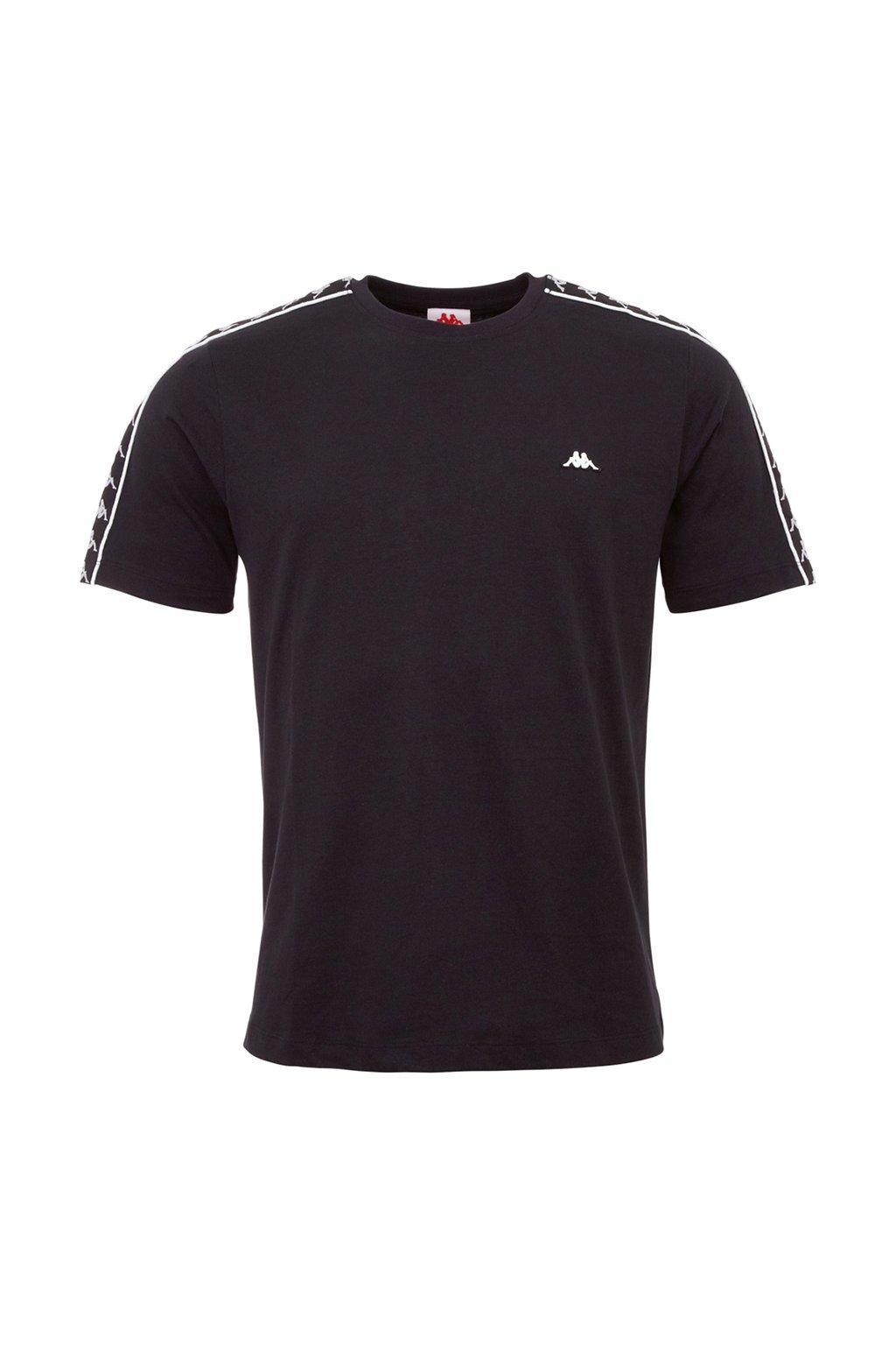 Pánske tričko Kappa Hanno čierne 308011 19-4006