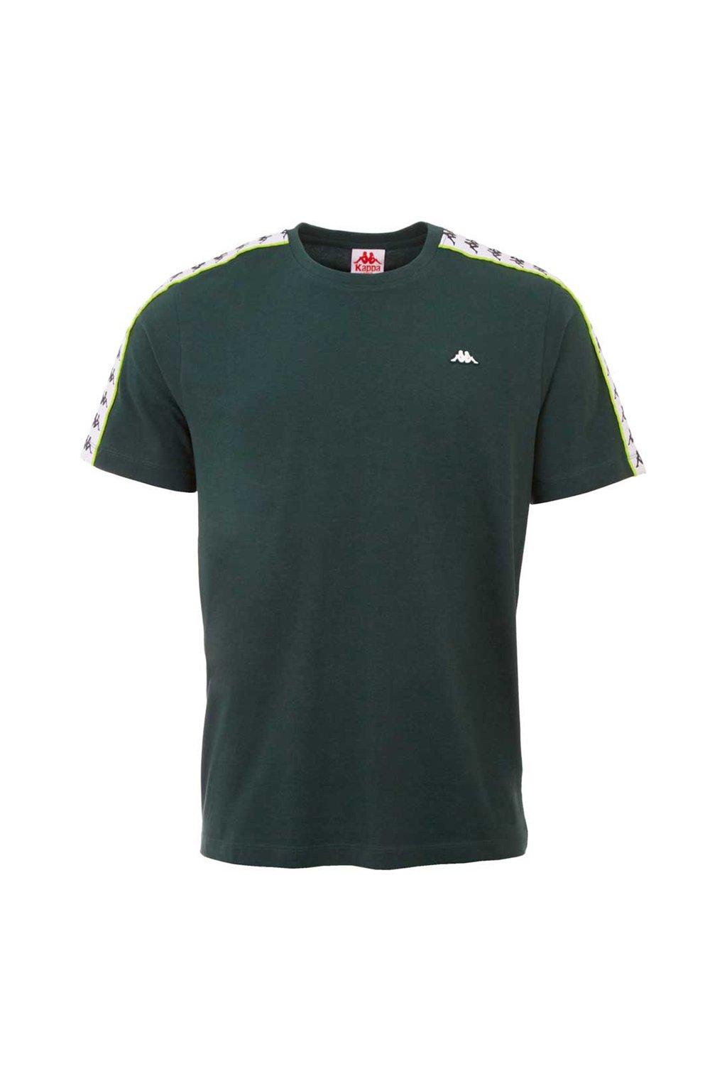 Pánske tričko Kappa Hanno tmavo zelené 308011 19-5320