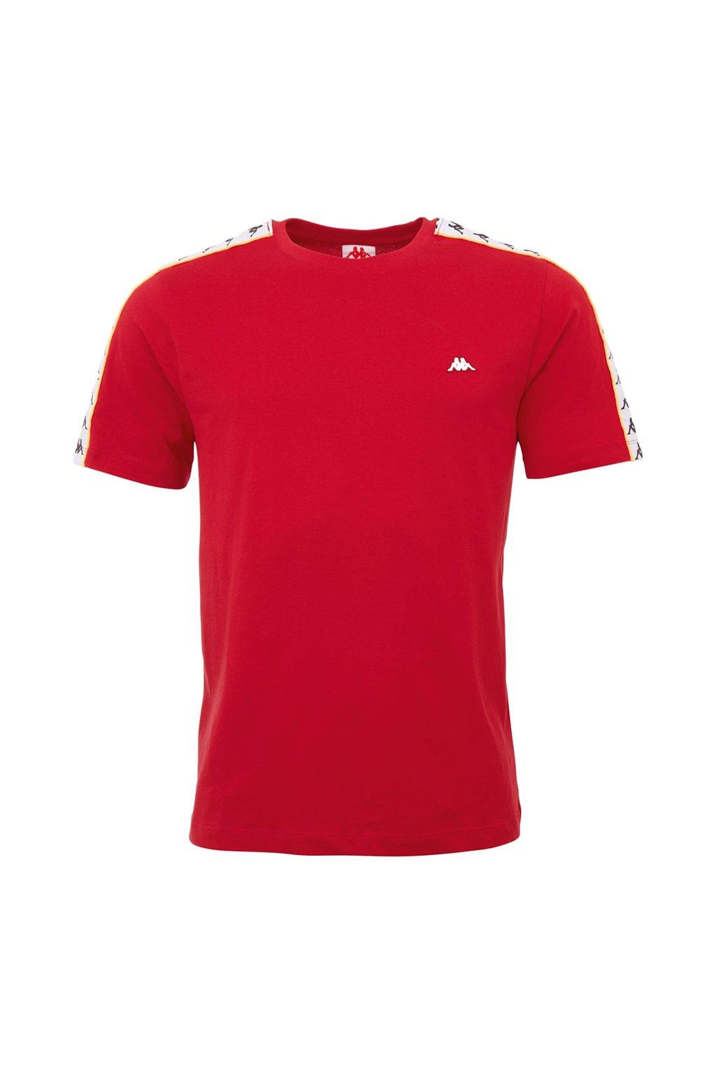 Pánske tričko Kappa Hanno červené 308011 19-1863