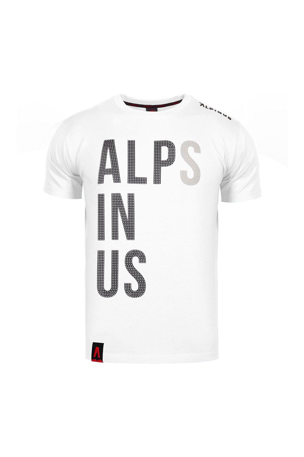Pánske tričko Alpinus Alps In Us biele ALP20TC0015