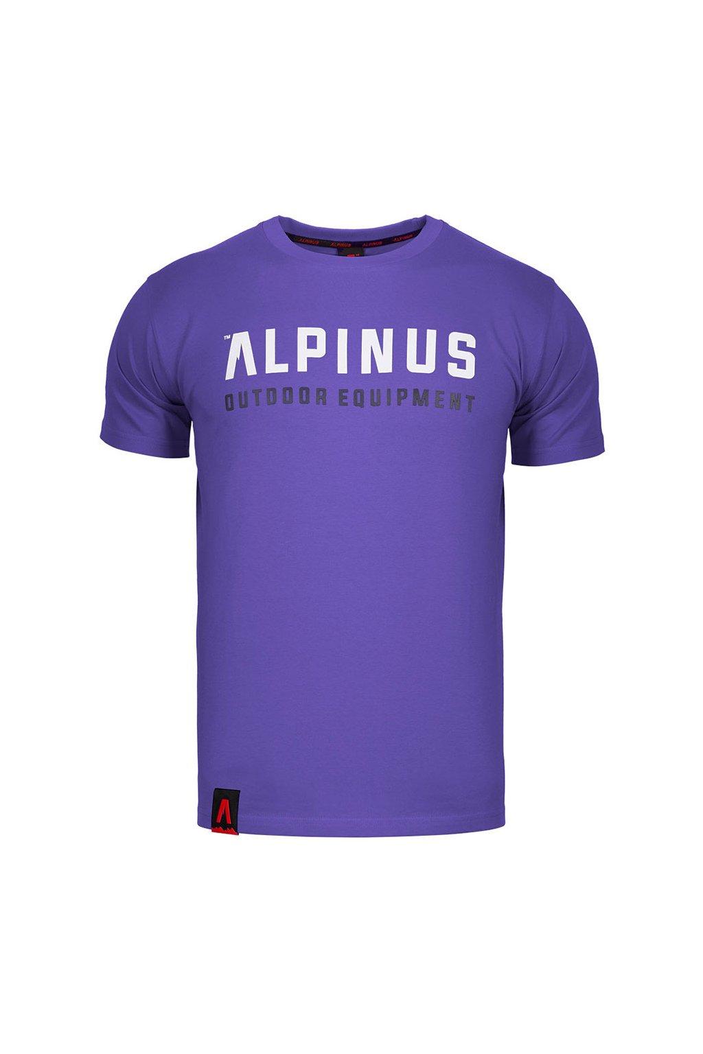 Pánske tričko Alpinus Outdoor Eqpt. fialové ALP20TC0033