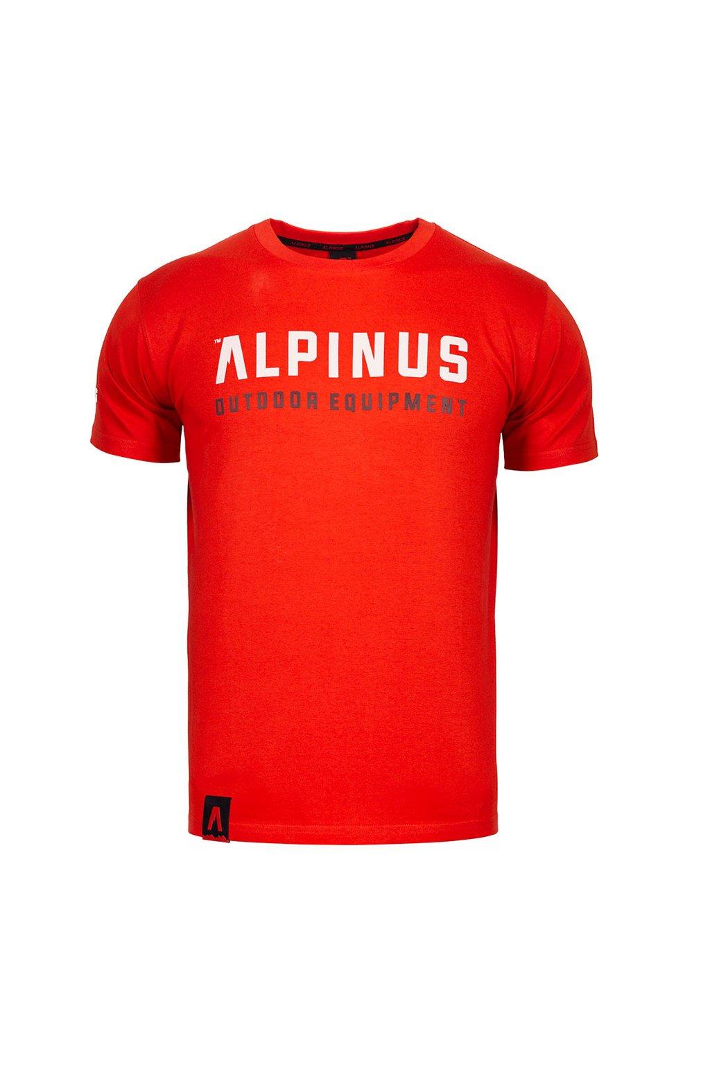Pánske tričko Alpinus Outdoor Eqpt. červené ALP20TC0033