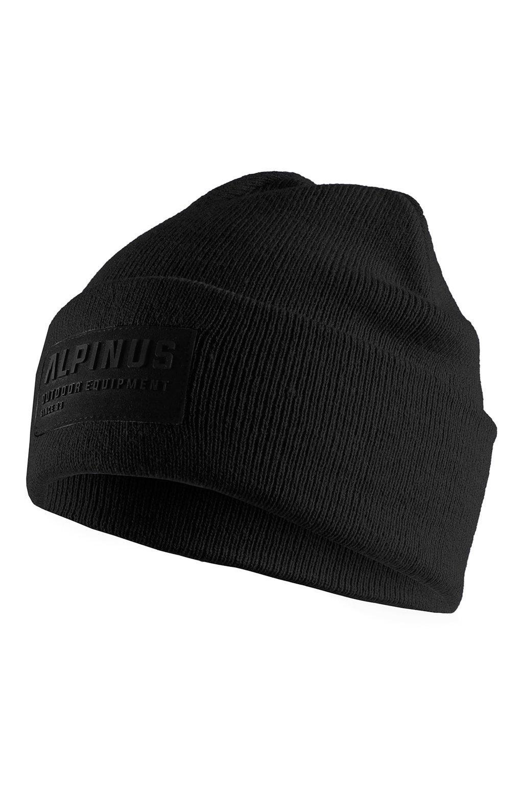 Čiapka Alpinus Oslo Cuffed Beanie čierna AWH006