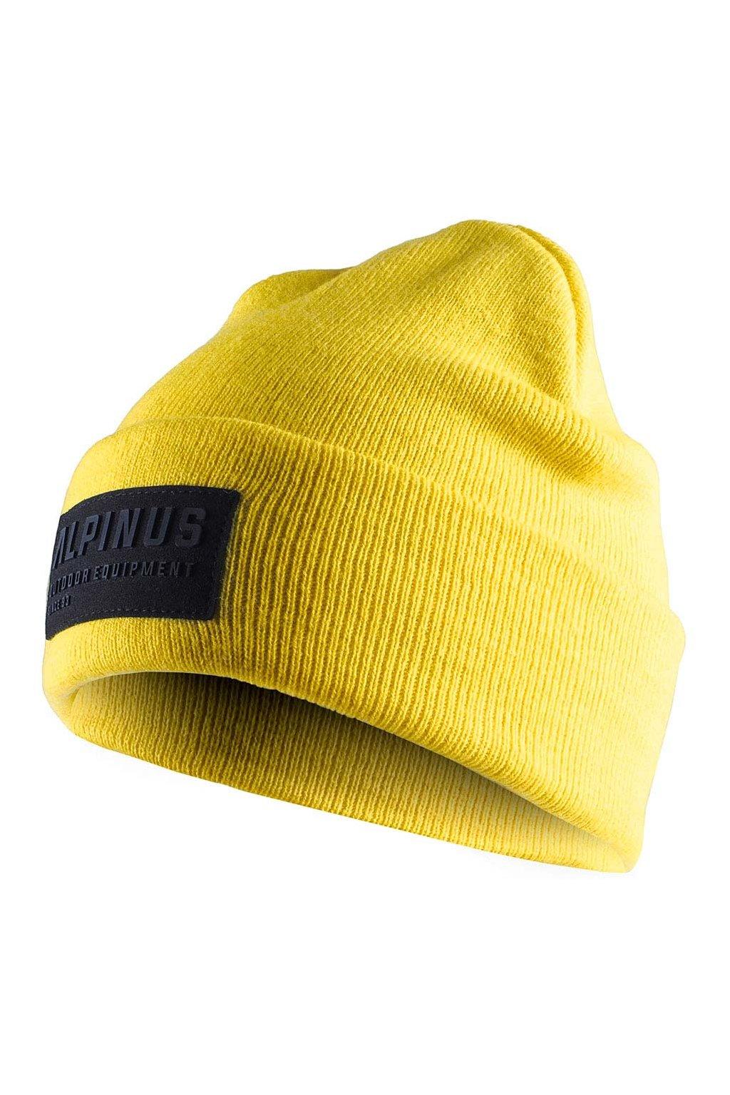 Čiapka Alpinus Oslo Cuffed Beanie žltá AWH006