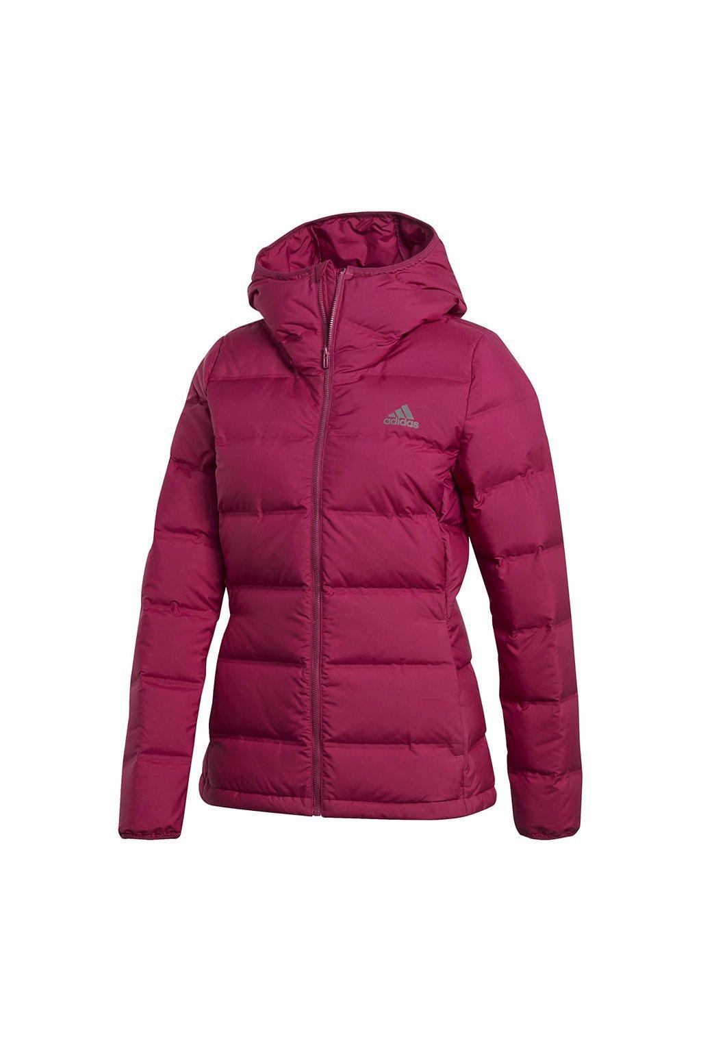 Dámska bunda adidas Helionic Down Hooded ružová GM5345