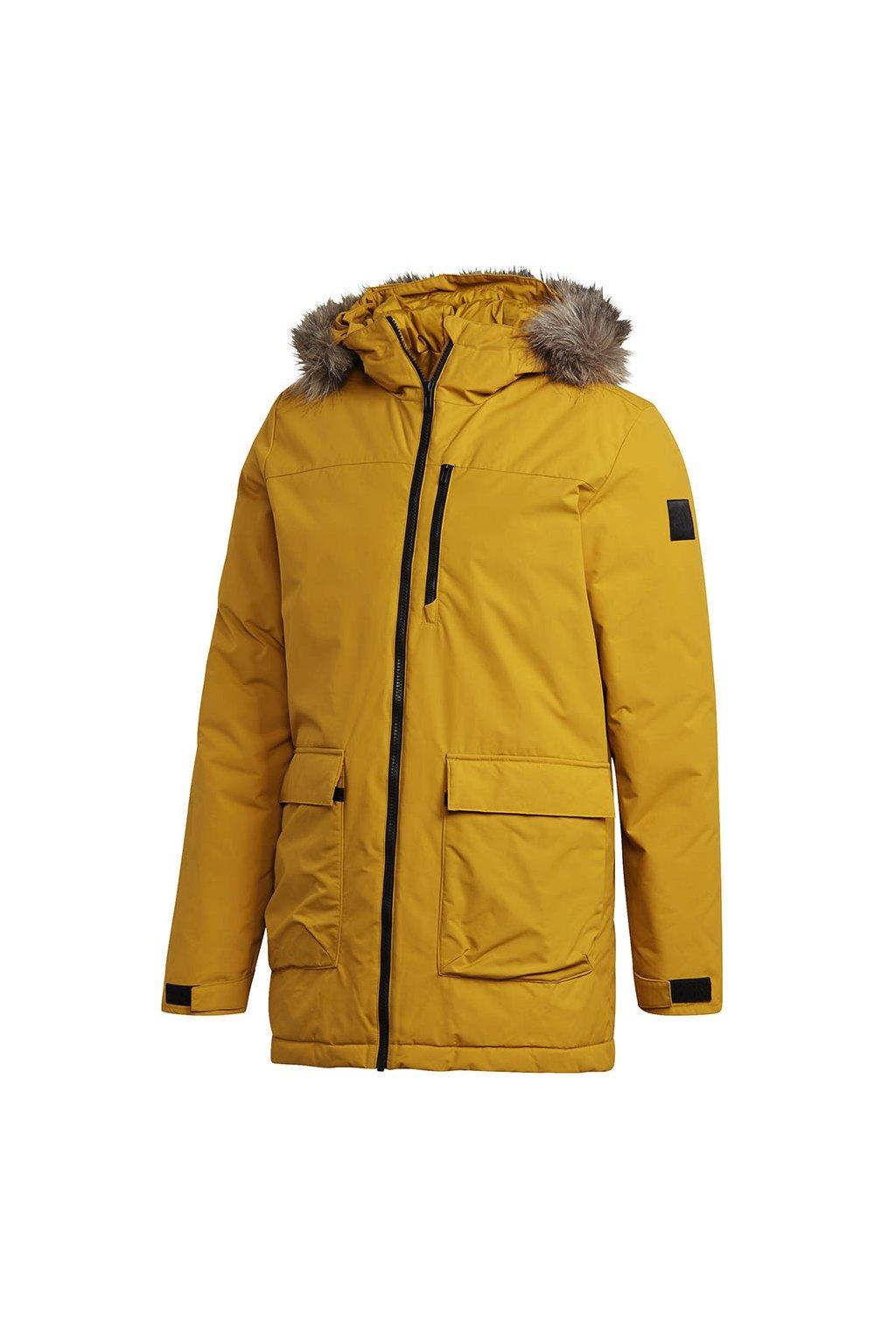 Pánska bunda Adidas Xploric Parka žltá GK3551