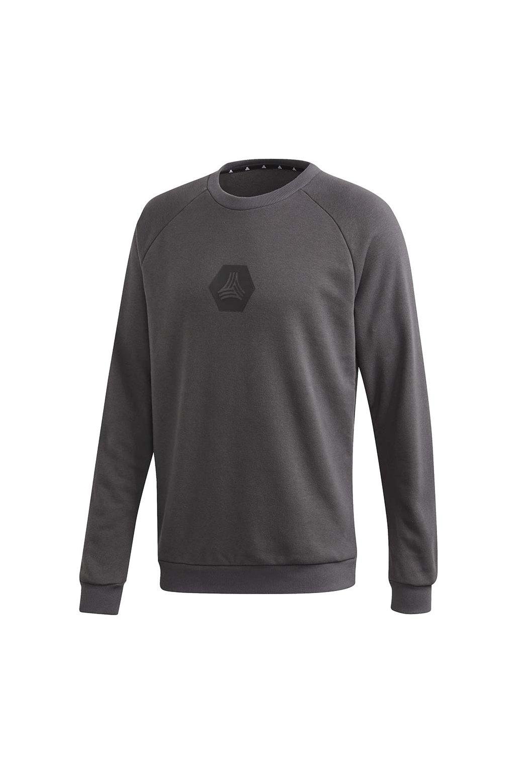 Tričko Adidas Tan Crew Sweat Logo šedé FM0861