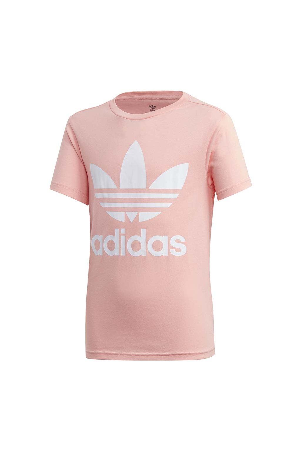 Detské tričko adidas Trefoil Tee ružové FM5661