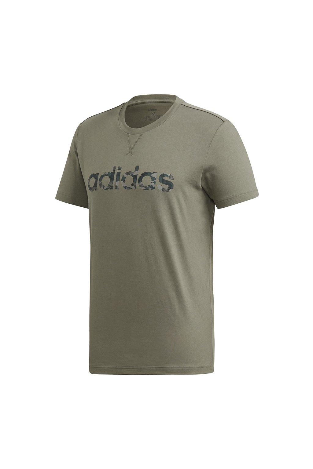 Pánske tričko Adidas E Camo Linear Tee olivové FM0224