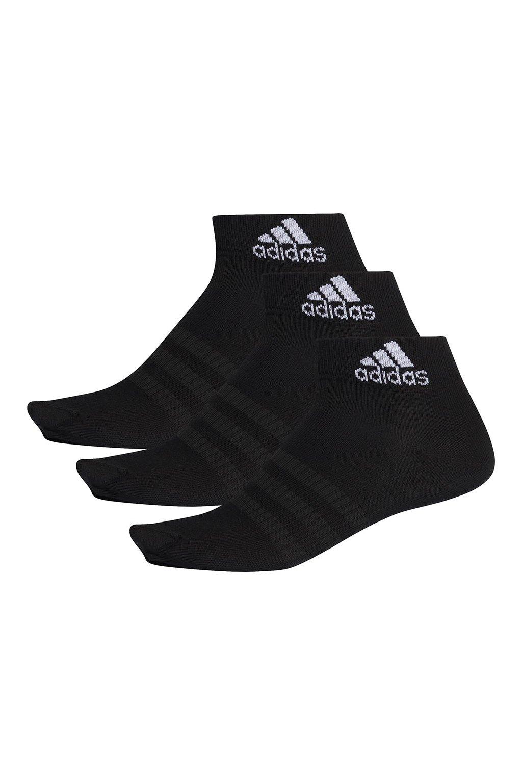 Ponožky adidas Light ANK 3PP čierne DZ9436