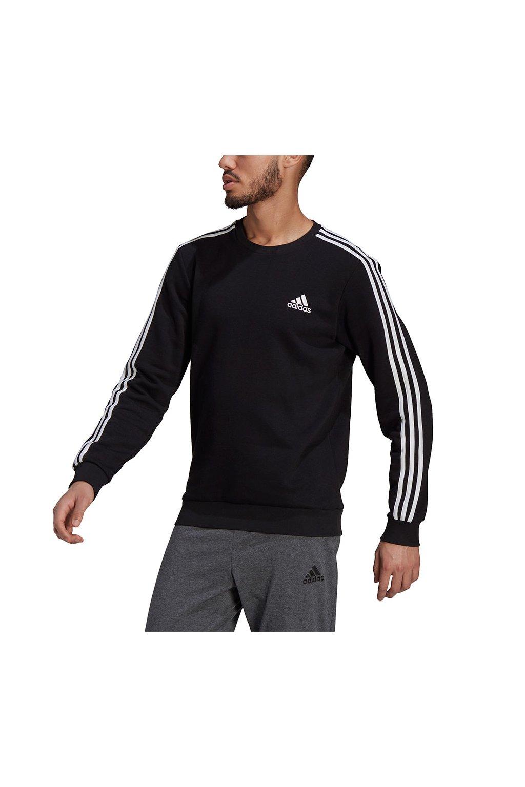 Pánska mikina adidas Essentials Sweatshirt čierna GK9106