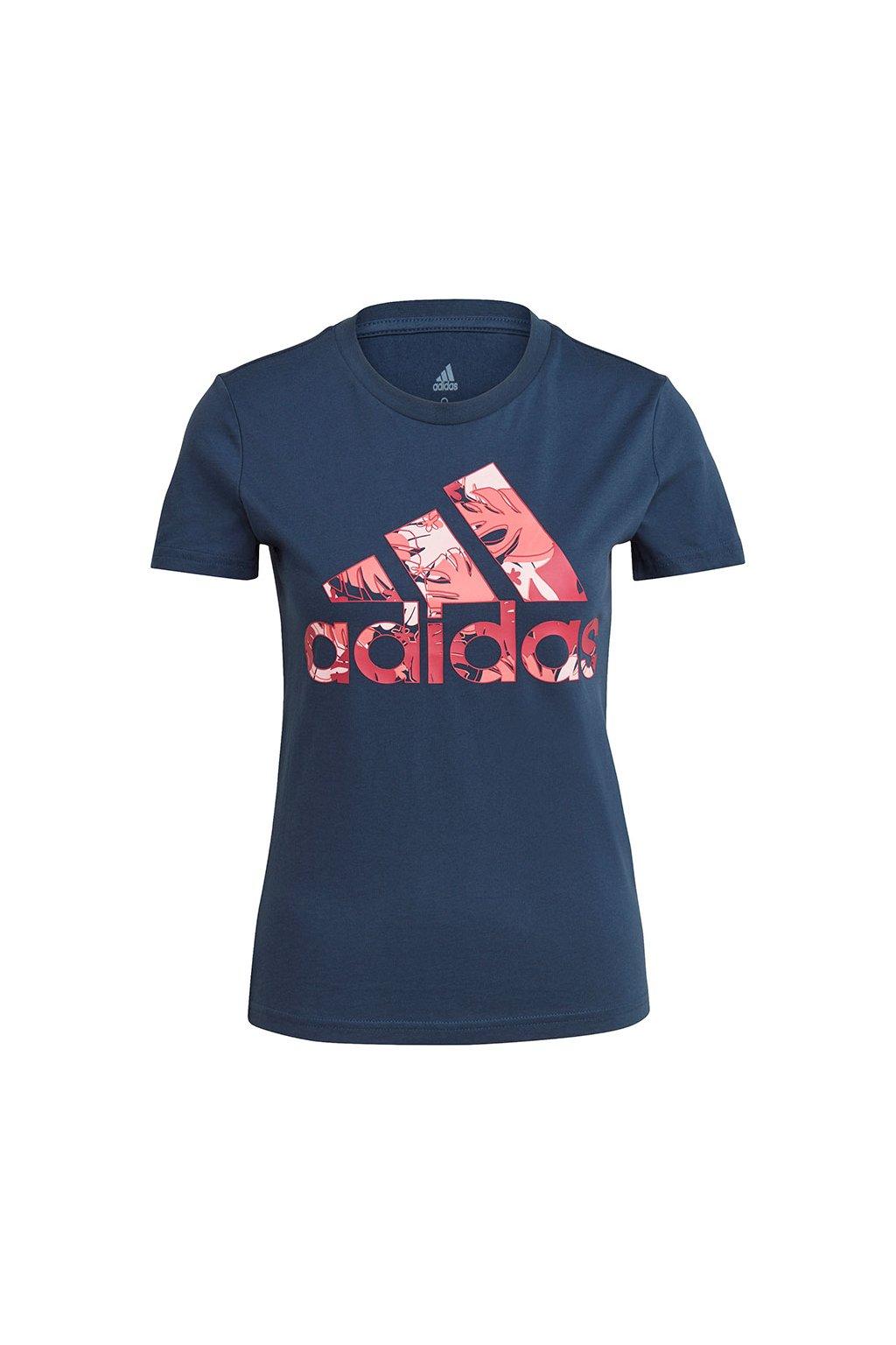 Dámske tričko adidas Tropical Graphic T-Shirt tmavomodré GL0838