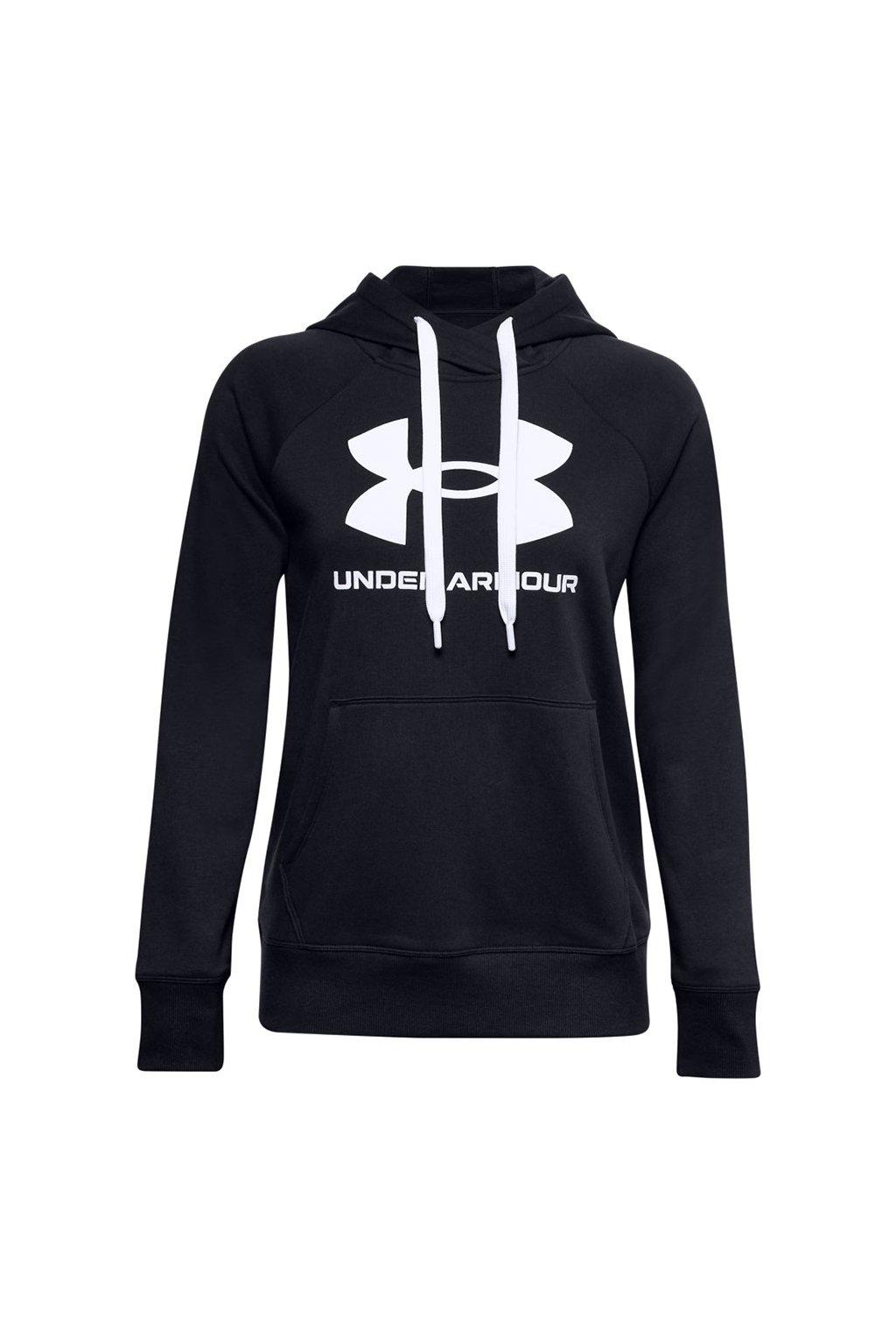 Dámska mikina Under Armour Rival Fleece Logo Hoodie čierna 1356318 001