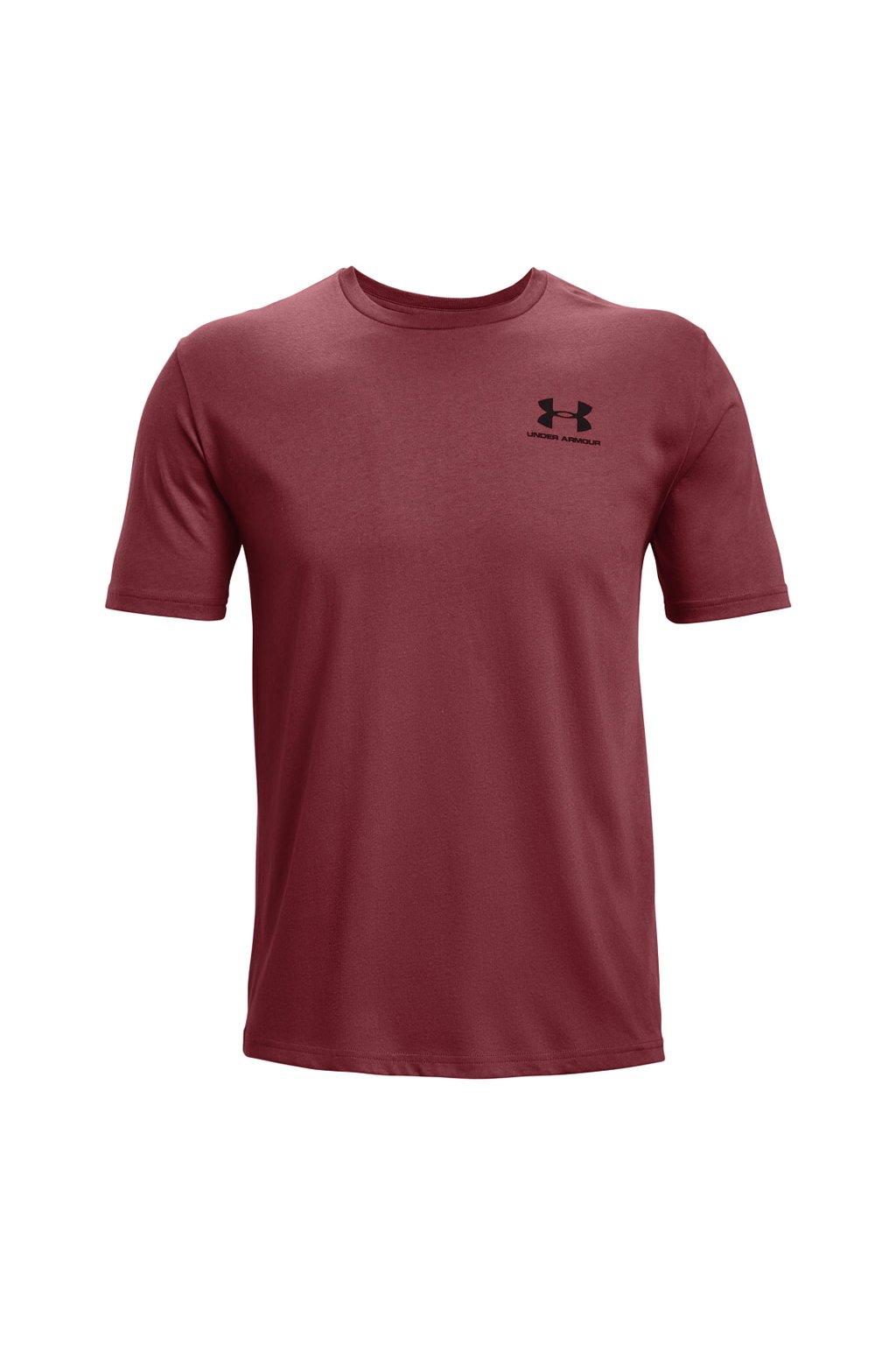Pánske tričko Under Armour Sportstyle LC SS bordové 1326799 652