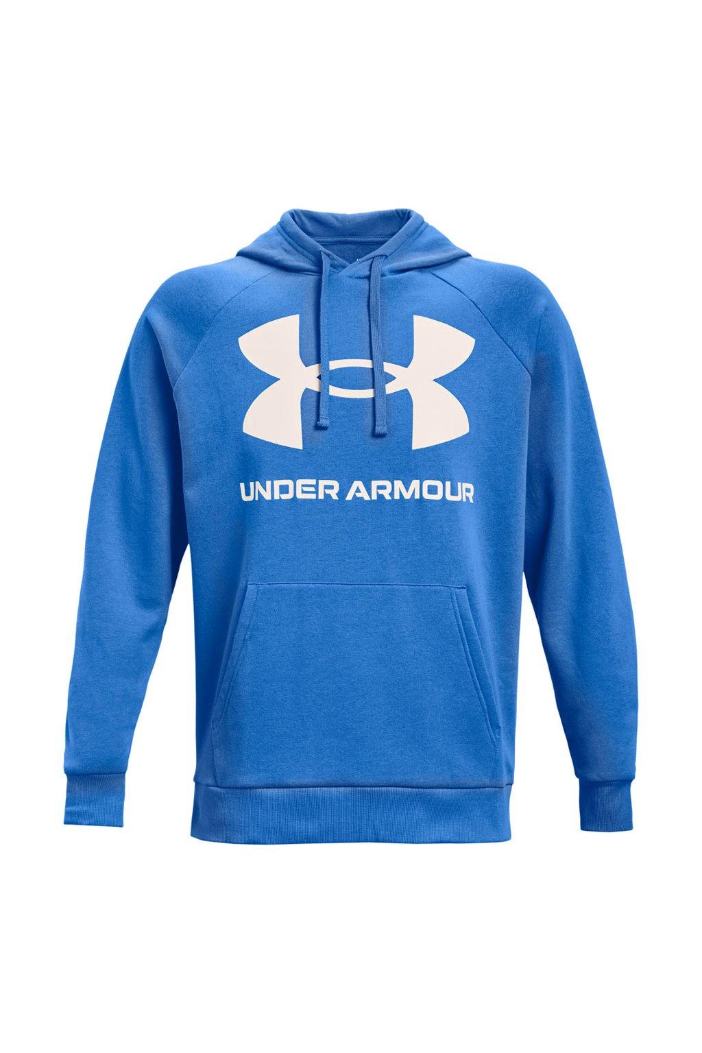 Pánska mikina Under Armour Men's Rival Fleece Big Logo modrá 1357093 787