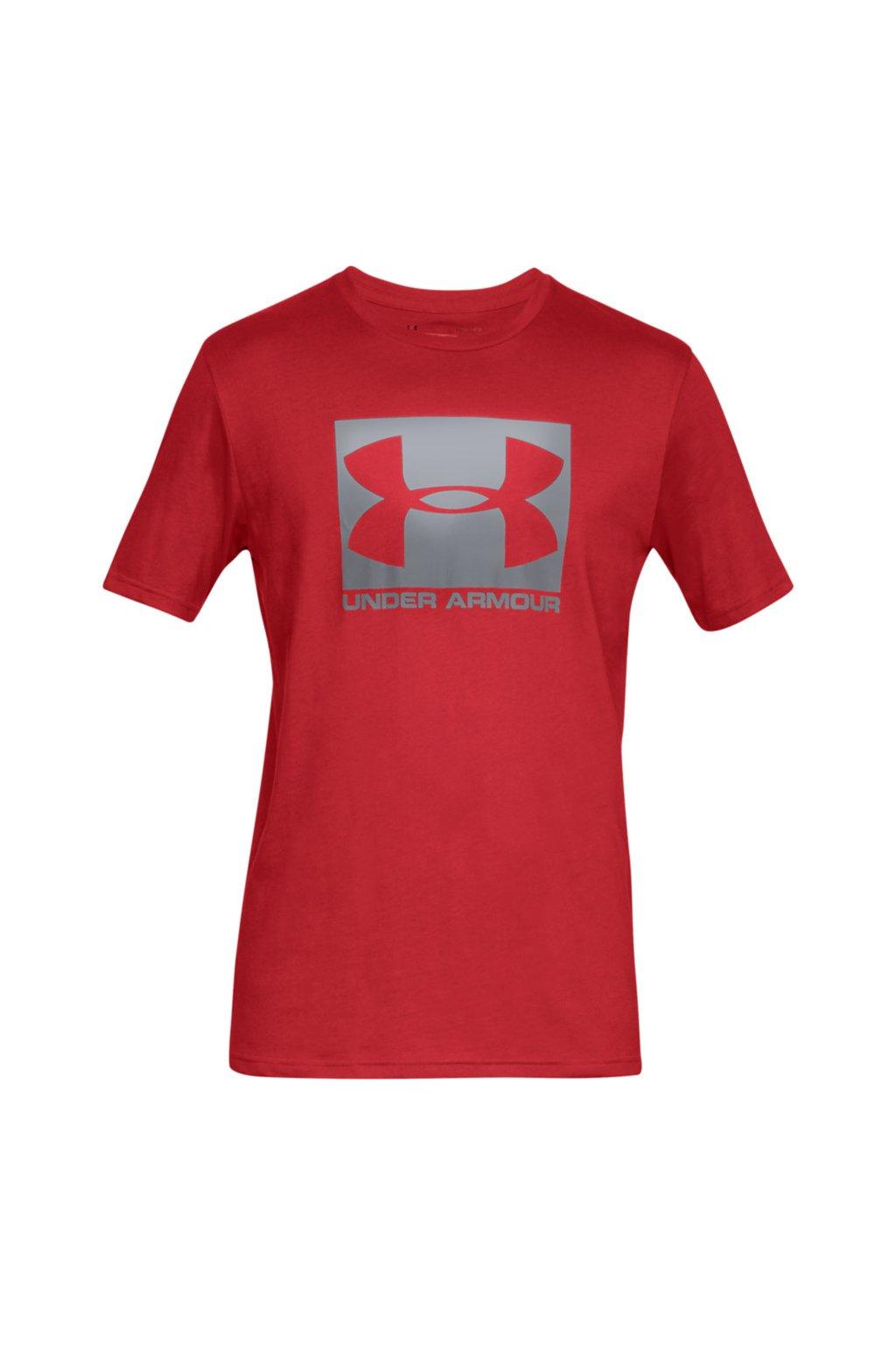 Pánske tričko Under Armour Boxed Sportstyle SS červené 1329581 600