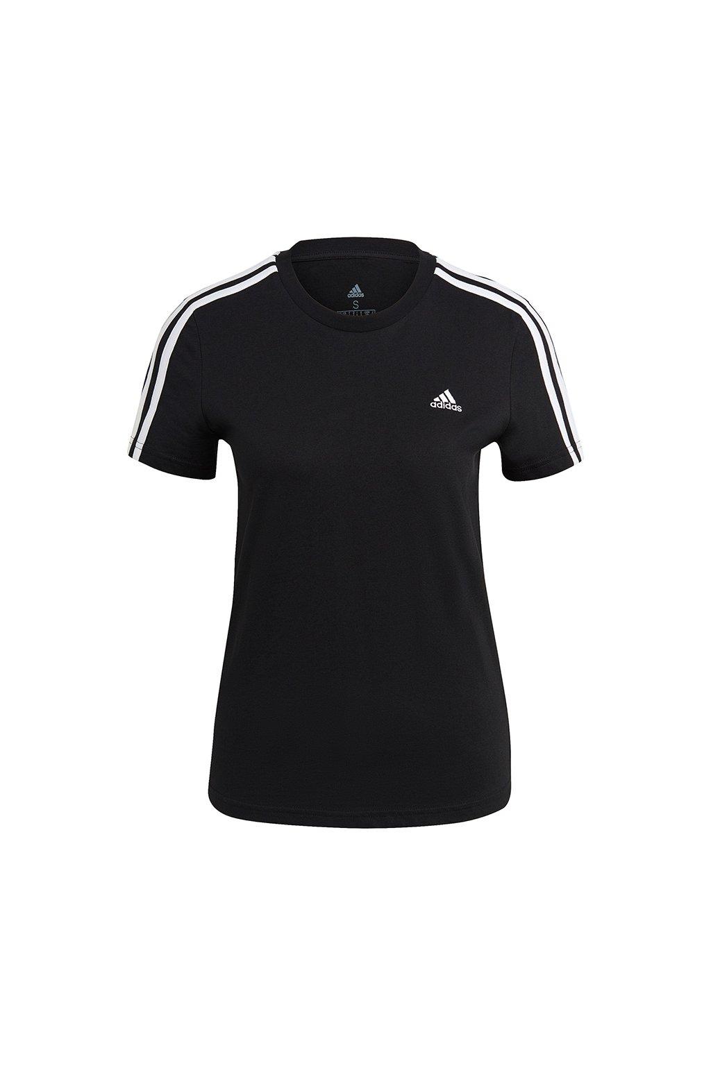Dámske tričko adidas Essentials Slim T-Shirt čierne GL0784