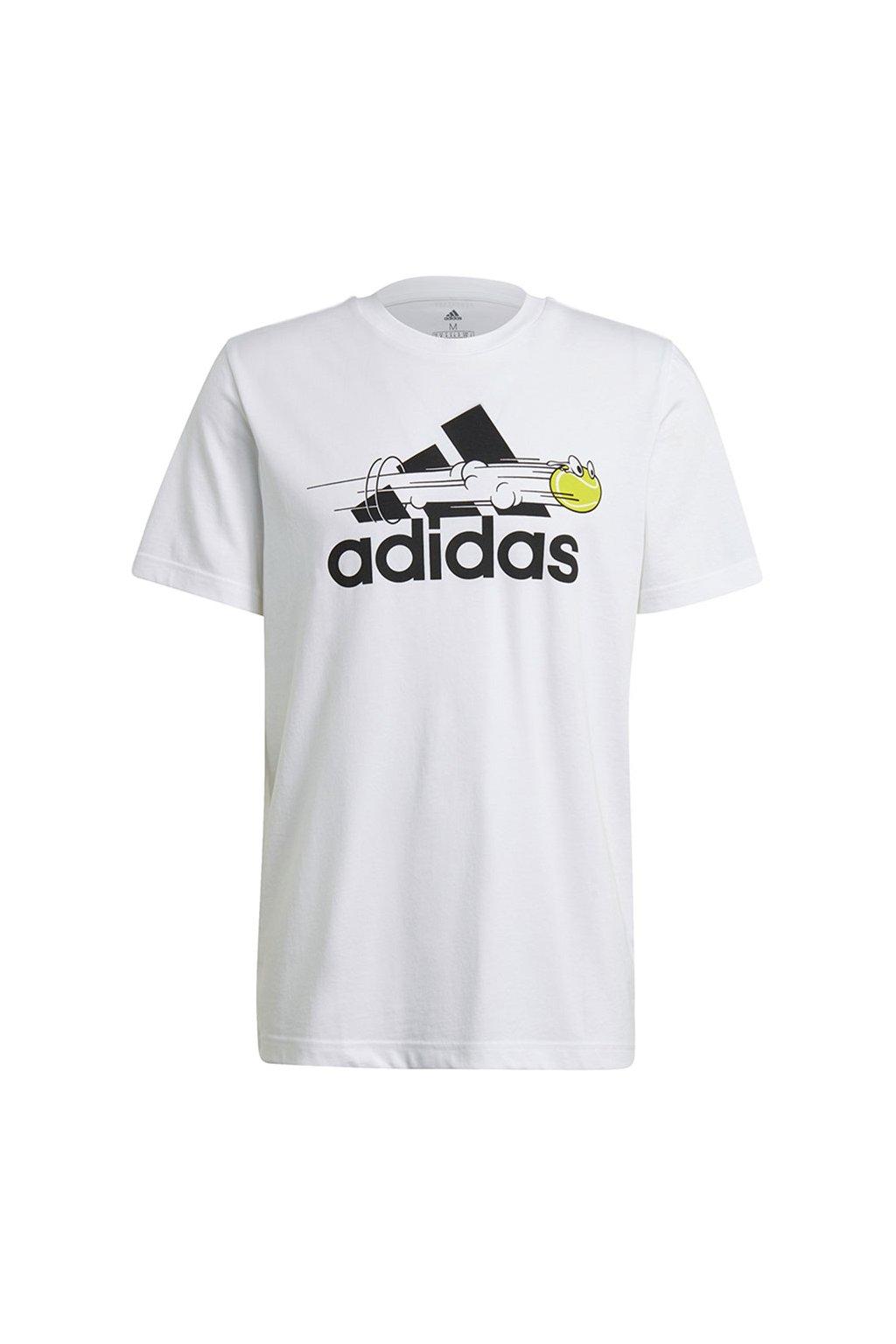 Pánske tričko adidas Tennis Graphic Logo T-shirt biele GN8058