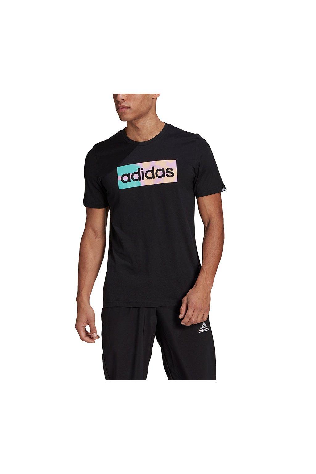 Pánske tričko adidas Hazy Dreams Box Logo Tee čierne GL3266