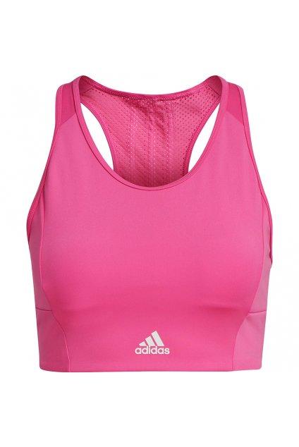 Dámska športová podprsenka adidas 3 Stripes Sport Bra Top ružová GU9645