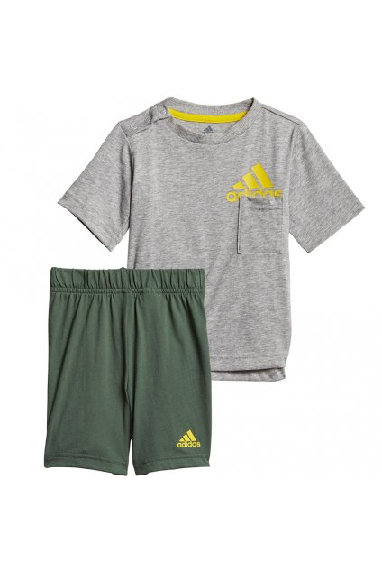 Sada pre deti adidas Infants BOS Logo Summer Set šedo zelená GM8944